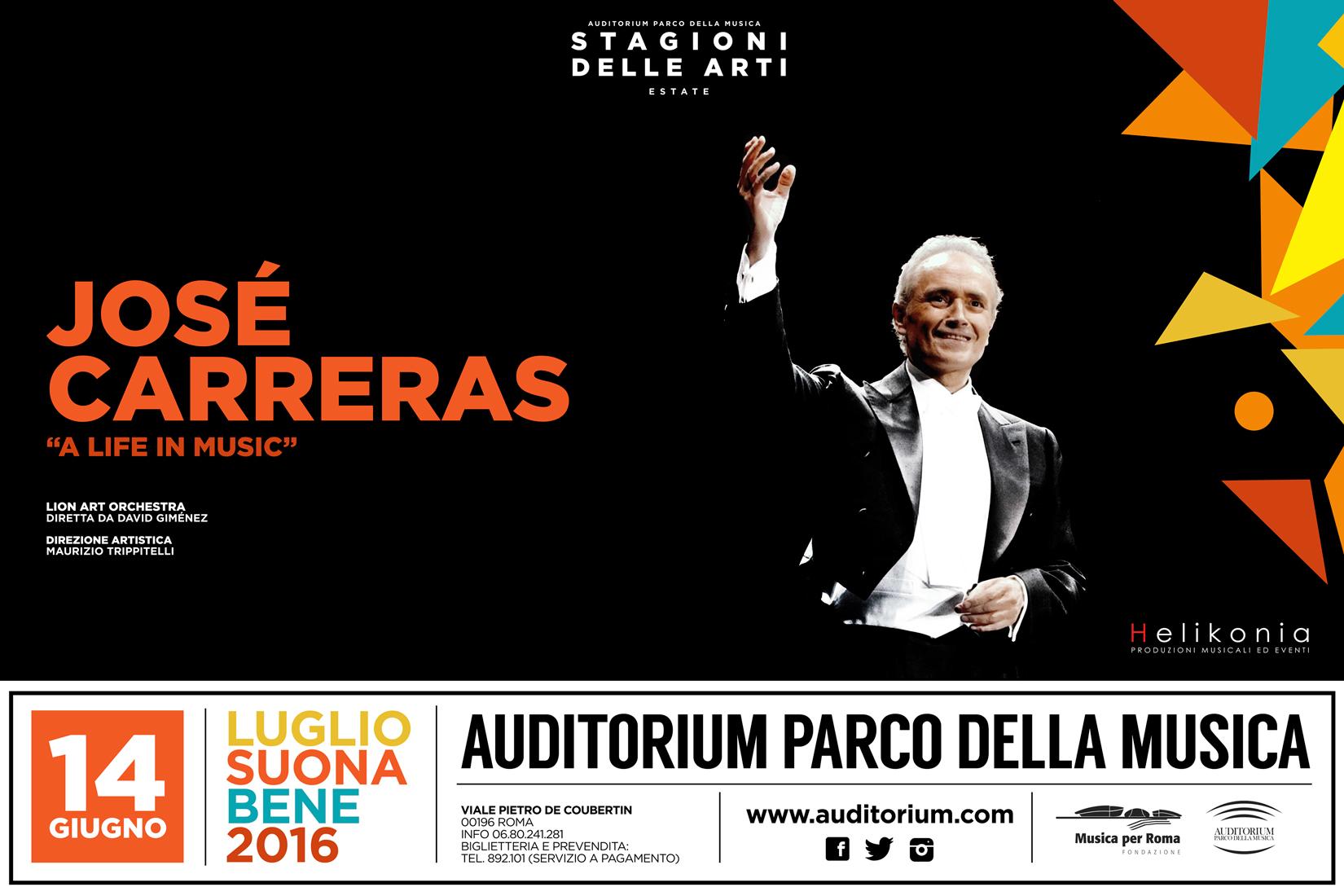 José Carreras • A life in Music • Auditorium Parco della Musica