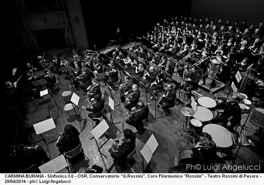 CARMINA BURANA - SINFONICA 3.0 - OSR , CONSERVATORIO ROSSINI, CORO FILARMONICO ROSSINI - DIRETTORE AGIMAN - TEATRO ROSSINI DI PESARO - 29/04/2014 - PH© LUIGI ANGELUCCI